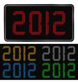 digital 2012 number vector image vector image