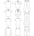 man clothes summer collection vector image
