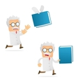 scientist with book vector image vector image