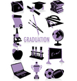 graduation silhouettes vector image