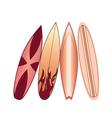 surfboards set vector image