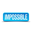 Impossible blue 3d realistic square isolated vector image