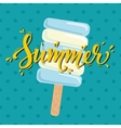 Poster Summer with ice cream vector image