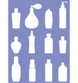 Bottle collection - silhouette vector image