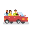 Car travel Tourist trip traveling by automobile vector image