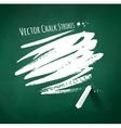 Hand drawn chalk strokes vector image