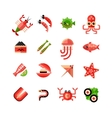 Seafood Isolated Icon Set vector image
