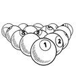 doodle billiard pool balls vector image