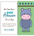 baby shower invitation with stuffed animal vector image