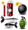 Bomb set vector image vector image