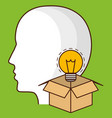 head with bulb icon vector image