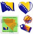 colours of Bosnia vector image vector image