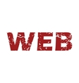 Red grunge web logo vector image