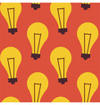 Flat Seamless Pattern Business Idea Lamp vector image vector image