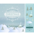 Merry Christmas holidays wish greeting card and vector image