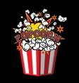 Pop corn2 vector image vector image