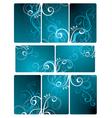 floral tile background vector image vector image