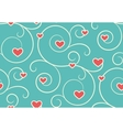 Seamless Festive Love Abstract Pattern with Hearts vector image vector image