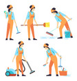 cleaning service woman staff - cleaning staff of vector image