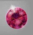 crystal red pink ruby gem jewelry precious stone vector image