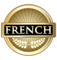 French Gold Label vector image