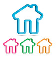 Home 3D Icon vector image