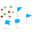 Pin flags for navigation and location service vector image