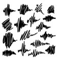 scribble brush strokes set equalizer icons vector image