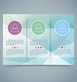 Tri-fold modern brochure booklet template vector image