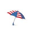 usa flag colored umbrella season american fashion vector image