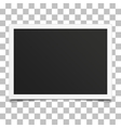Retro photo frame with shadow vector image