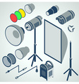 flash studio professional strobe element set vector image