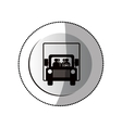 Delivery truck isolated vector image