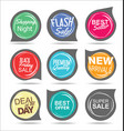 modern badges colorful collection vector image vector image