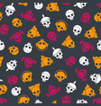 bright seamless pattern with colorful sculls vector image vector image