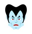 Dracula angry emoji vampire evil emotion face vector image