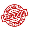 welcome to cameroon red stamp vector image