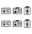 id card icons vector image