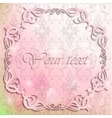 Vintage frame on pink background vector image