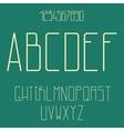 Flat alphabet vector image