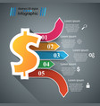 3d infographic design dollar icon vector image