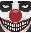 Evil Clown smiling Face vector image