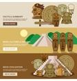 Maya Banner Set vector image