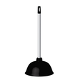 plunger vector image vector image