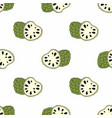 cherimoya exotic fruit seamless vector image
