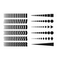 collection of creative halftone elements vector image