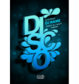 Disco poster background vector image