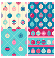 Four Christmas seamless patterns vector image