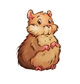 hamster in cartoon style vector image