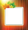 Officel board with maple leaves vector image